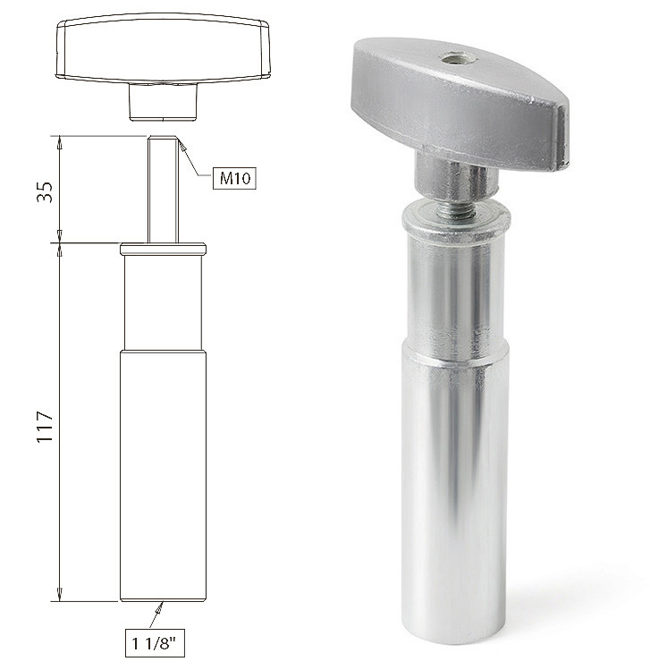 CantoUSA 1 1/8″ Male Adapter M12 Thread Photo