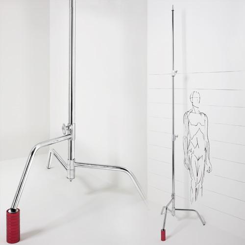 CantoUSA 40″ Sliding Leg C-Stand (Chrome Steel) Photo
