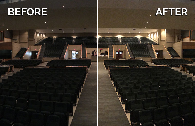 CantoUSA RETRO Install Before After McLean Church Blog Photo