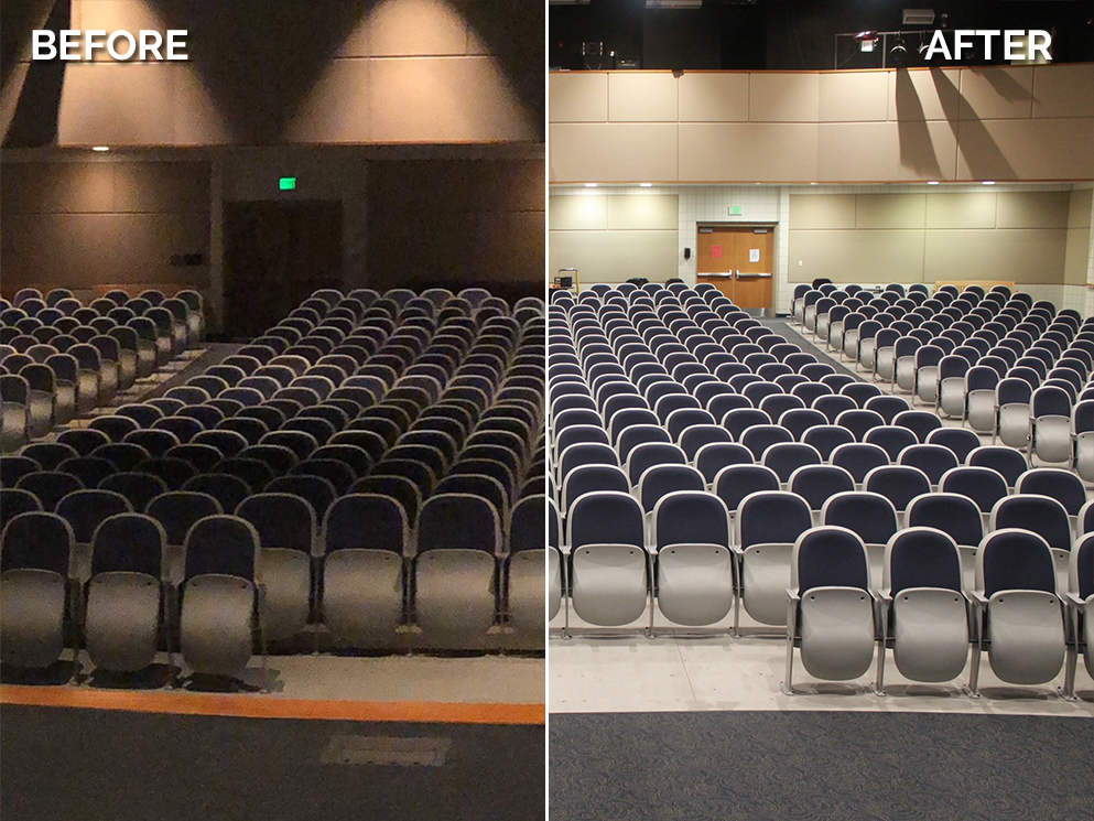 Owen Valley High School Before and after Canto USA Retro Series Install Photo